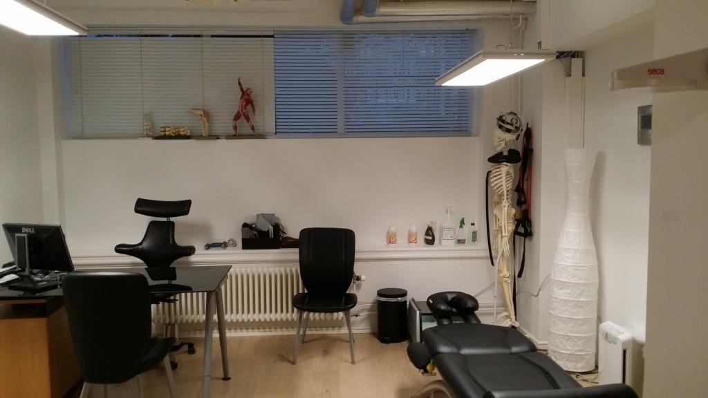 Mitt behandlingsrummet i centrala Malmö