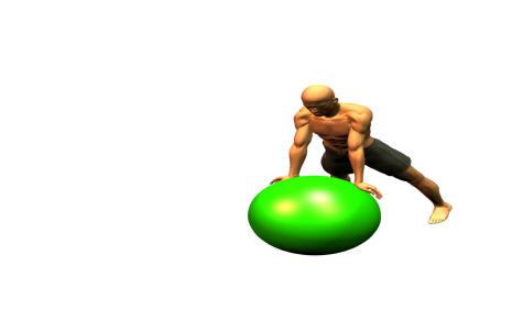 rehabiliteringsträning med boll (swiss ball på engelska)