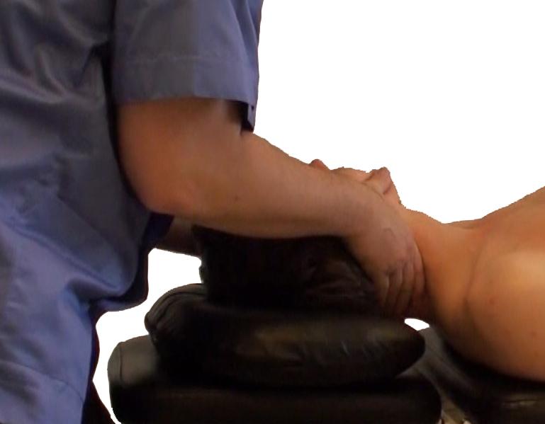 Manipulation/justering av halsryggen